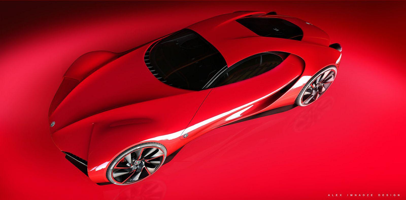Alfa Romeo 6C Disco Volante Concept Car