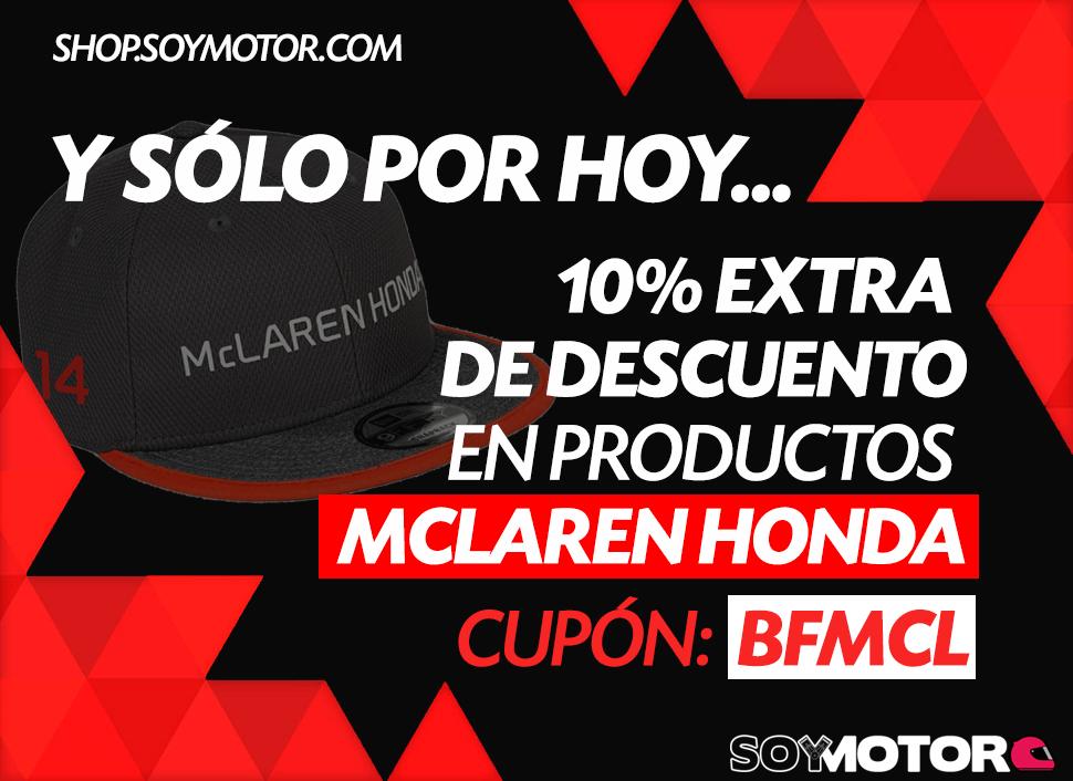 Descuento en merchandising McLaren-Honda