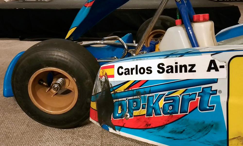 Carlos Sainz kart