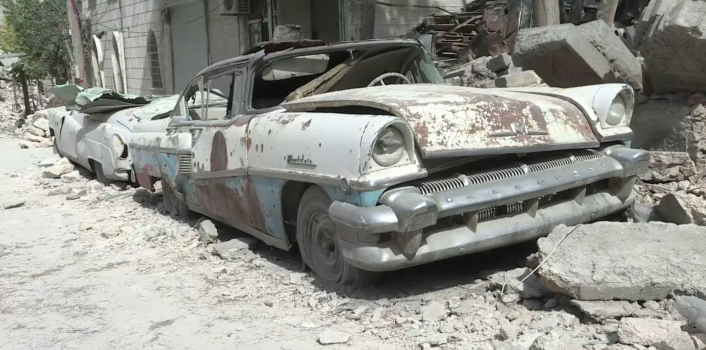 Coche clásico en Alepo