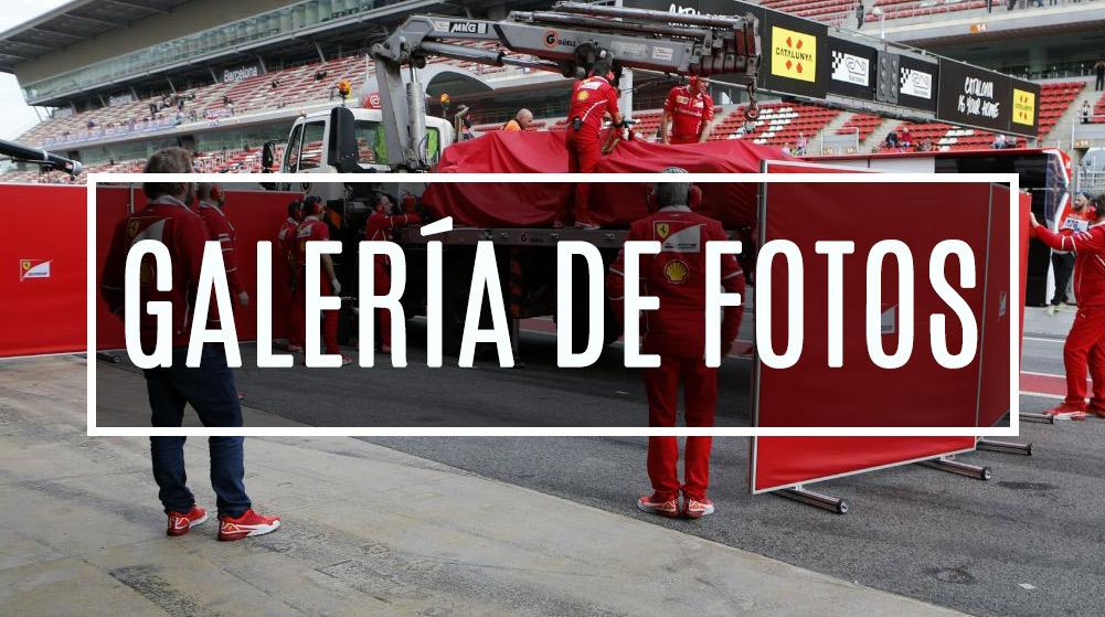 El SF70-H después del accidente en Barcelona