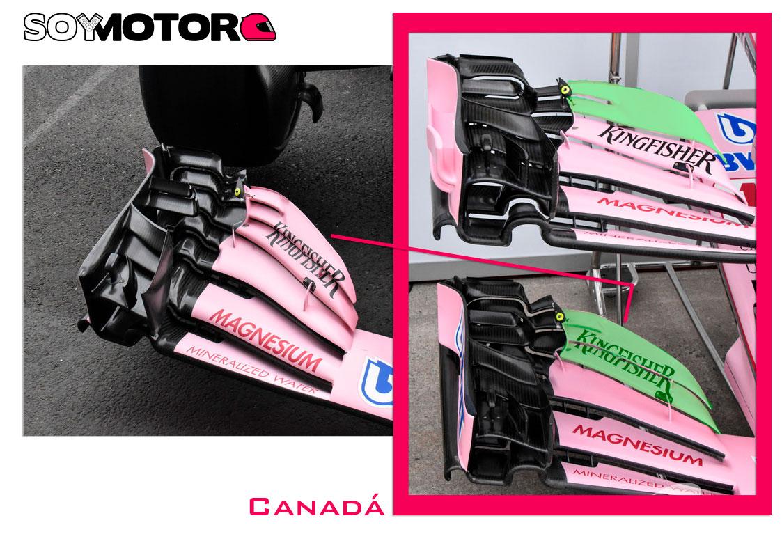 Force India ala delantera