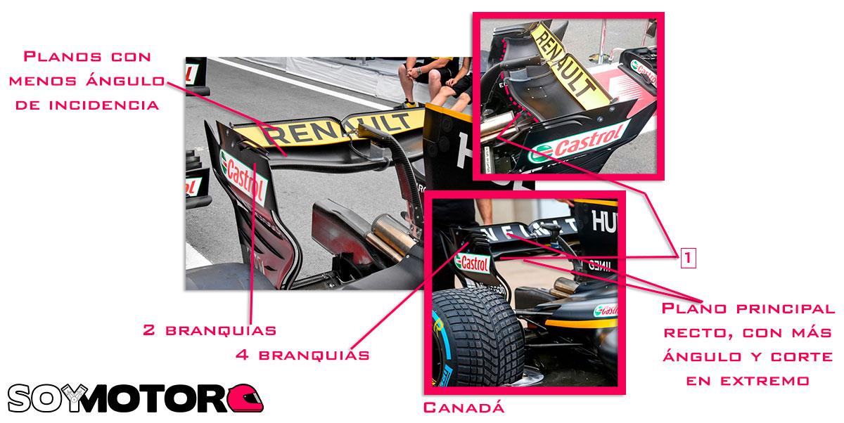 Renault ala trasera