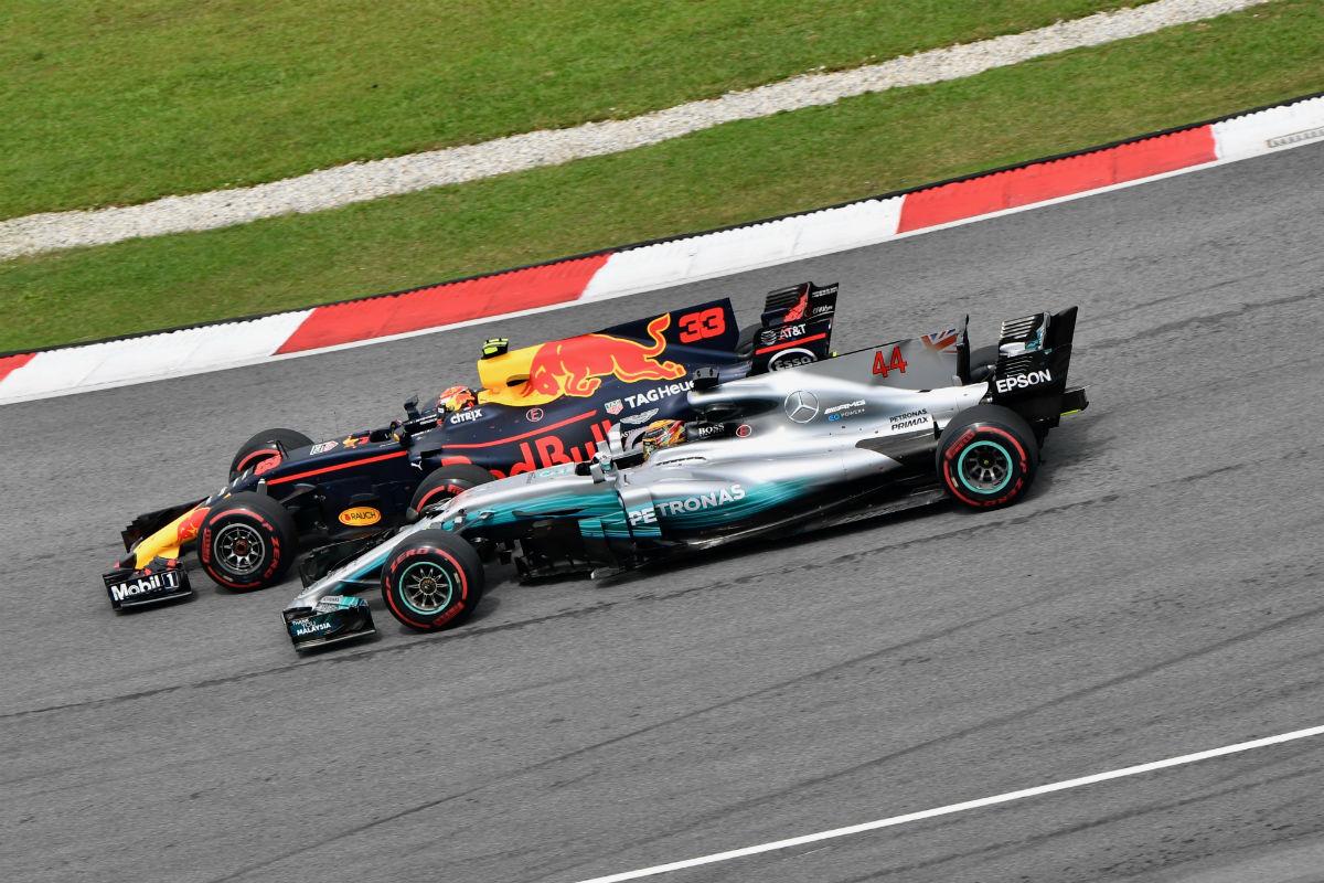 Verstappen y Hamilton en Malasia - SoyMotor.com