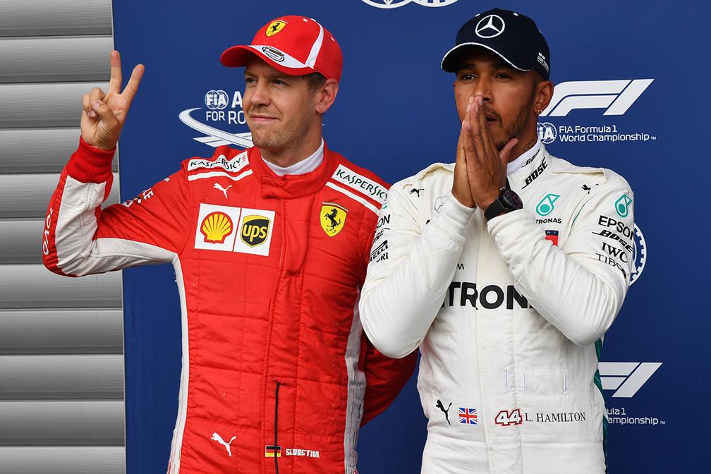 Sebastian Vettel y Lewis Hamilton en Spa - SoyMotor.com